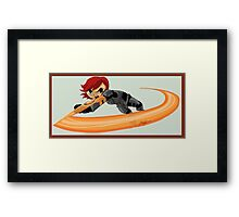 Spin Attack Framed Print