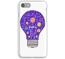 outer space / planets  light bulb iPhone Case/Skin