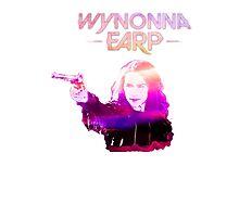 Wynonna Earp and Her Big Ass Gun. (Pink/Purple) Photographic Print