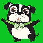 Cute Cartoon Pets Dogs Boston Terrier by peacockcards