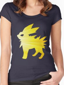 lightning bolt Women's Fitted Scoop T-Shirt