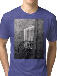 Wagon Wheel ~ Black & White Tri-blend T-Shirt