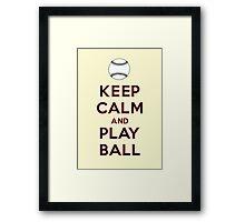 Keep Calm and Play Ball - San Francisco Framed Print