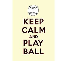 Keep Calm and Play Ball - San Francisco Photographic Print