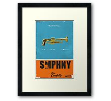 SMPHNY Music Is Our Weapon Framed Print