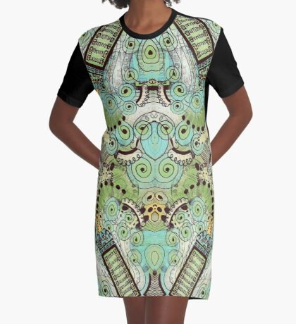 Belle Epoque Pattern Graphic T-Shirt Dress