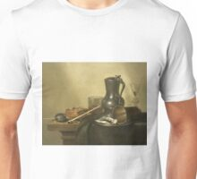 Willem Claesz Heda - Tobacco Still Life 1637 . Still life with fruits and vegetables: fruit, Tobacco, glass , tasty, gastronomy food, glass of wine, dish, cooking, kitchen, vase Unisex T-Shirt