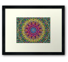 abstract ethnic vector Framed Print