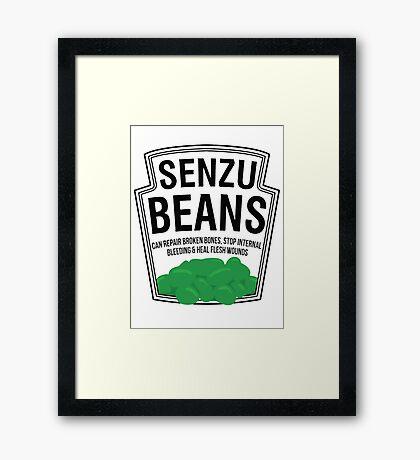Senzu Beans Parody Framed Print