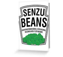 Senzu Beans Parody Greeting Card