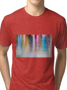 Colourful reflection in water  Tri-blend T-Shirt