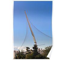 Israel, Jerusalem, Chord Bridge (AKA String Bridge)  Poster