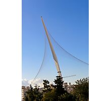 Israel, Jerusalem, Chord Bridge (AKA String Bridge)  Photographic Print