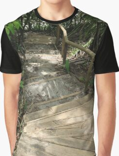 Wooden Stairway Graphic T-Shirt