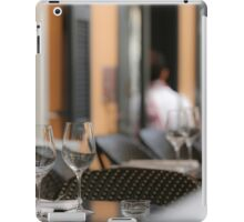 Atmospheric image of an outdoor cafe  iPad Case/Skin
