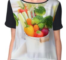 fresh Vegetable snacks Chiffon Top
