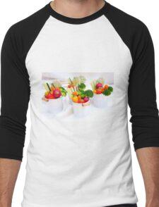 fresh Vegetable snacks Men's Baseball ¾ T-Shirt