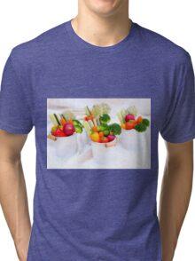 fresh Vegetable snacks Tri-blend T-Shirt