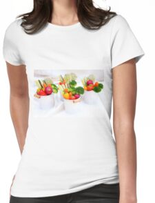 fresh Vegetable snacks Womens Fitted T-Shirt