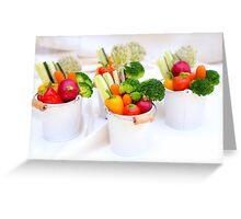 fresh Vegetable snacks Greeting Card