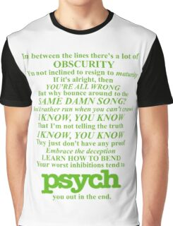 Psych Theme Text Graphic T-Shirt