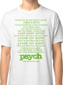 Psych Theme Text Classic T-Shirt