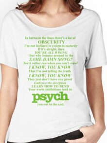 Psych Theme Text Women's Relaxed Fit T-Shirt