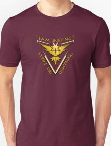 Team Instinct: Strike Like Lightning Unisex T-Shirt
