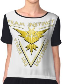 Team Instinct: Strike Like Lightning Chiffon Top