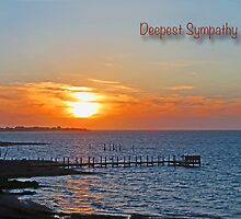Deepest Sympathy Sunset Greeting Card by GalleryThree