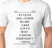 TWICE member hangul Unisex T-Shirt