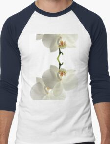 White Orchid Men's Baseball ¾ T-Shirt