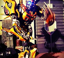 Bumblebee Flip The Bird - Transformers by Phyxius
