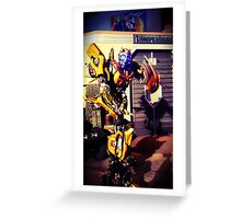 Bumblebee Flip The Bird - Transformers Greeting Card
