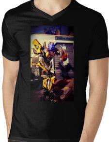 Bumblebee Flip The Bird - Transformers Mens V-Neck T-Shirt