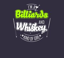 I'm Billiards and whiskey girl Womens Fitted T-Shirt