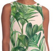 Green leaves print Contrast Tank