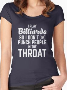 Punch people in the throat Women's Fitted Scoop T-Shirt