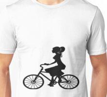 lady on bike Unisex T-Shirt