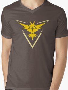 Pokemon Team Instinct Yellow Mens V-Neck T-Shirt