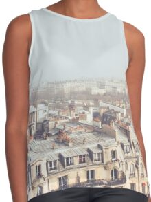 Paris Morning Rooftops Contrast Tank