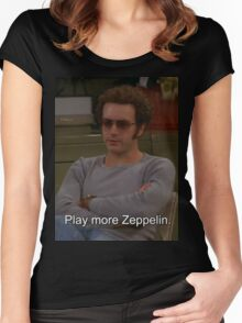 Play More Zeppelin Women's Fitted Scoop T-Shirt