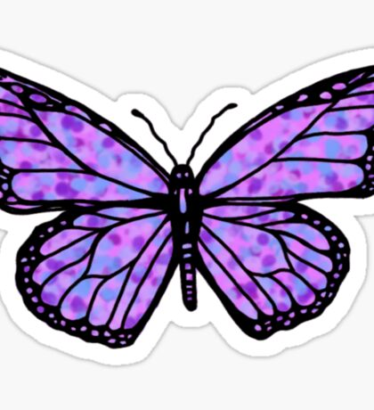 simple purple butterfly Sticker