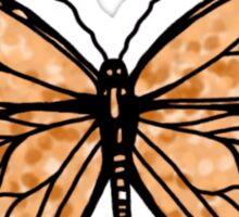 simple orange butterfly Sticker