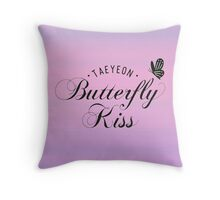 taeyeon butterfly kiss 3 Throw Pillow