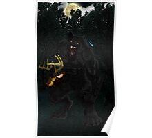 Werewolf and Deer Poster