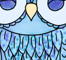 cute blue owl Sticker