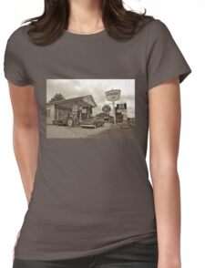 Old Gas Station Womens Fitted T-Shirt