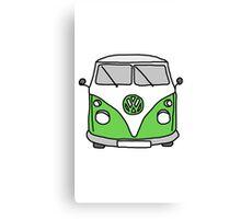 VW Camper Green Canvas Print