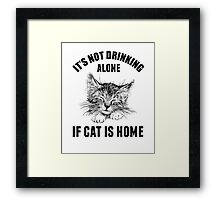 Not drinking alone Framed Print